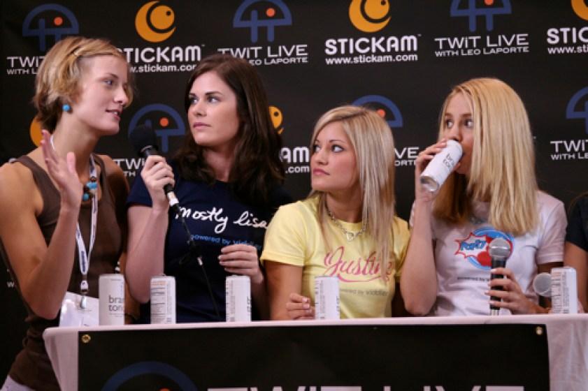Molly, Lisa, Justine, Sarah on TWiT live