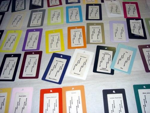 color samples at kitchenaid