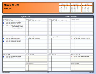 How To Use Outlook 2007 Calendar Printing Assistant Download Calendar Printing Assistant For Outlook From Microsoft Office Calendars Calendar Template 2016