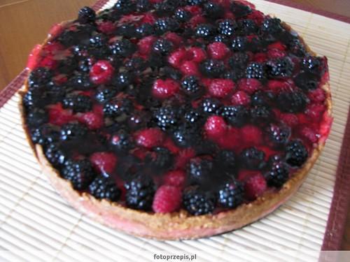 Tarta z owocami srednie pieczone desery  przepis foto