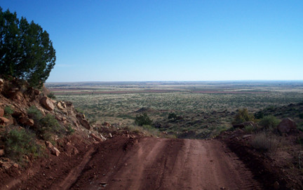 Looking back north from the Tucumcari Mountain trail.