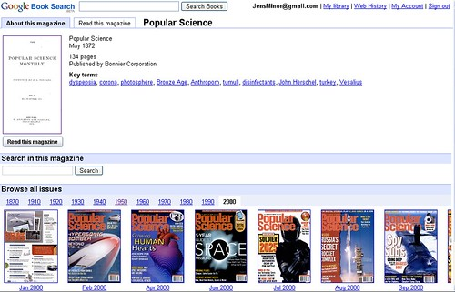 Google Book Search Magazin