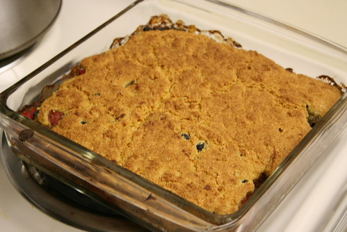 Cornbread and black bean casserole