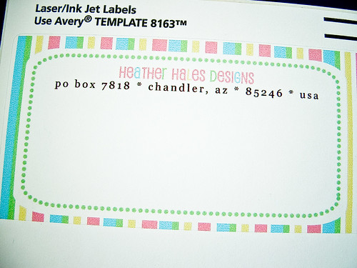heatherhalesdesigns » Blog Archive » Make Your Own Mailing Label
