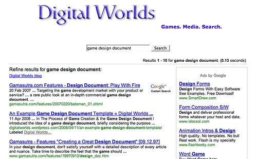 Searching for Games and Interactive Media Content on the Web