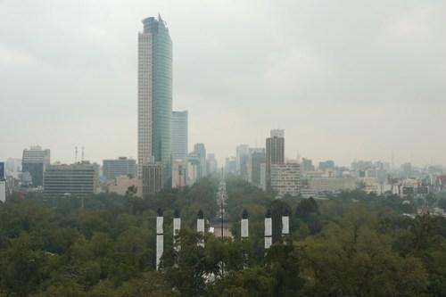 Paseo de la Reforma depuis le Castillo de Chapultepec