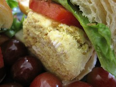 cafe at pharr - the chicken salad sandwich ... getting closer
