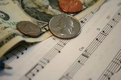 Makin music for money