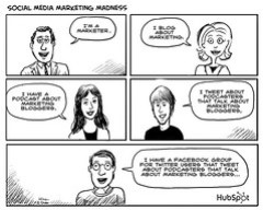 Social Media Marketing Madness Cartoon by HubSpot