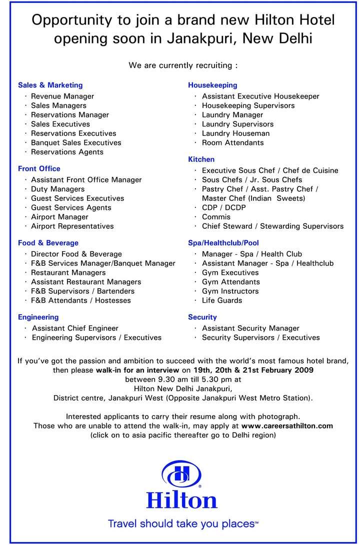 Hotel chief engineer resume