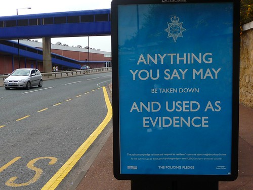 David Byrne's snapshot of a police poster in Newcastle, #2