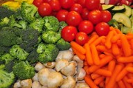 Fresh vegetables, carrots, tomatoes, broccoli, mushrooms, cucumbers - h232 by SouthernBreeze