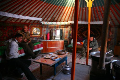 Lunch in a Mongolian Ger