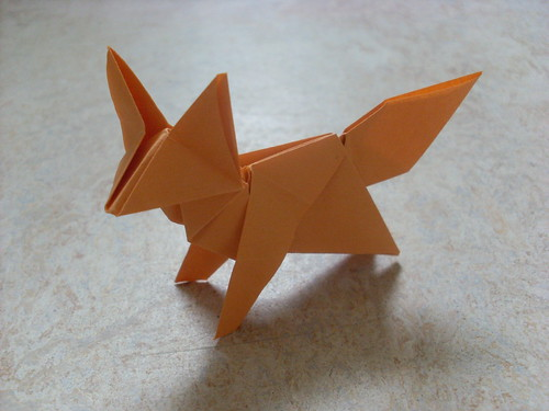 Origami fox - the instructions arenu0027t in English, but the diagram - note paper template