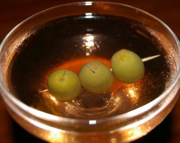 Dirti Martini with Bitters