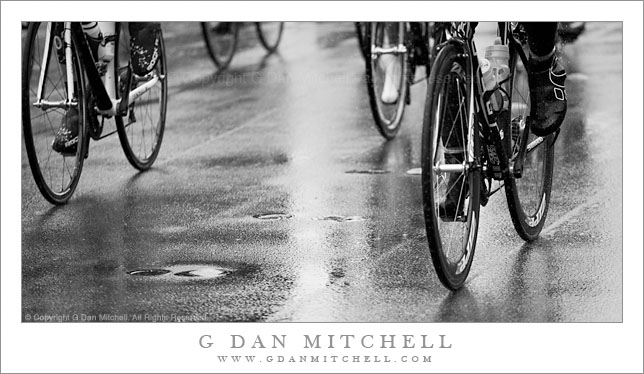 Bicycles in Rain