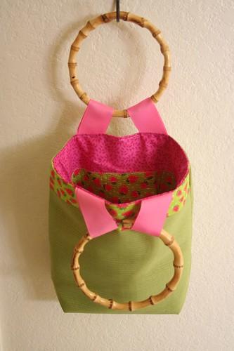 Bamboo handled bag