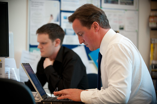 Craig Elder & David Cameron online at the OU