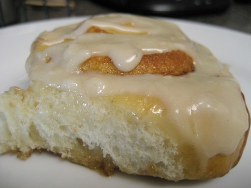glazed cinnamon roll