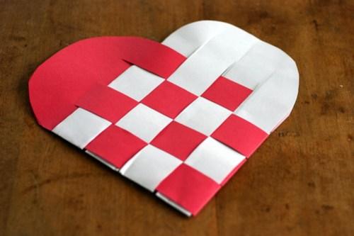 Woven Paper Valentine Hearts - 9