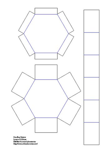 Hexagonal Stacking Boxes Evil Mad Scientist Laboratories - gift box templates free download