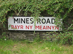 Mines Road in Laxey, Isle of Man