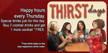 TGI Fridays ThirstDays