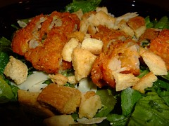 Caesar Salad and Spicy Chicken