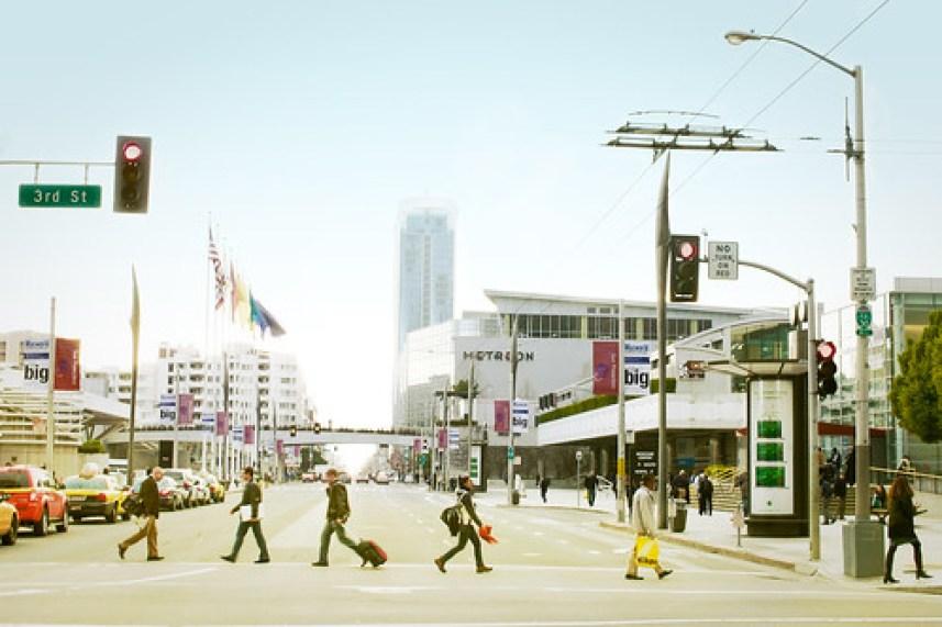 3rd & Howard looking at Moscone Centre, San Francisco