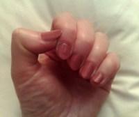 Nail Art: Painted fingernails abang design