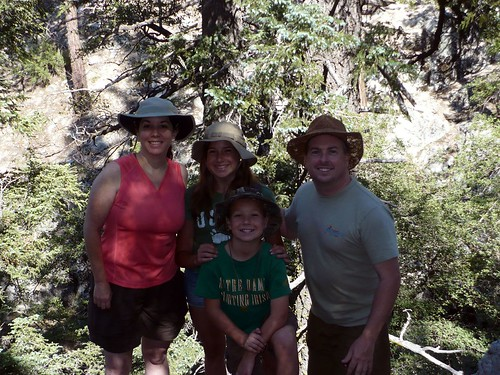 The four of us on the Burkhart Trail.