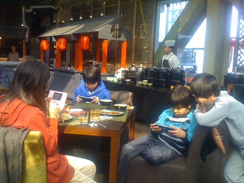 Korean Kids at Lunch