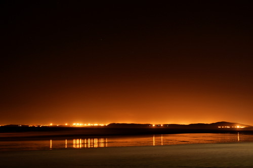 lights across False Bay