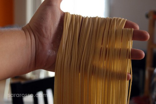 Fresh Homemade Spaghetti Pasta