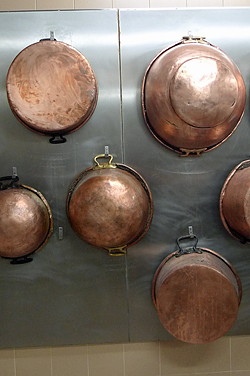 copper pots