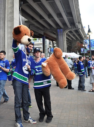 Canucks Fans at Rogers Arena on June 10, 2011, for Game 5 of Stanley Cup Playoffs