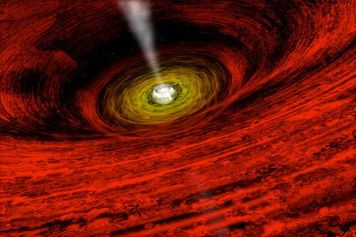 The heart of a black hole