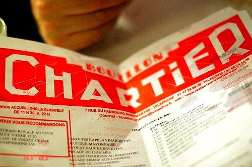 chartier menu