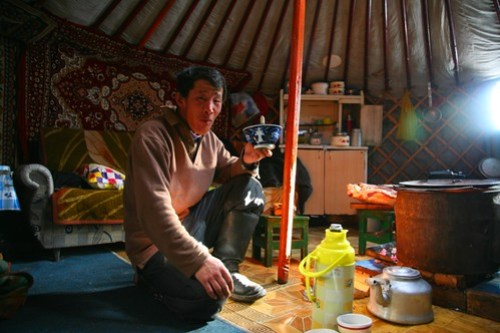 Tea in a Nomad's Ger