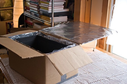 DIY Solar Oven: one reflector