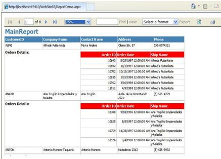 how do I create a complex report with subreports using report viewer - how to create a report