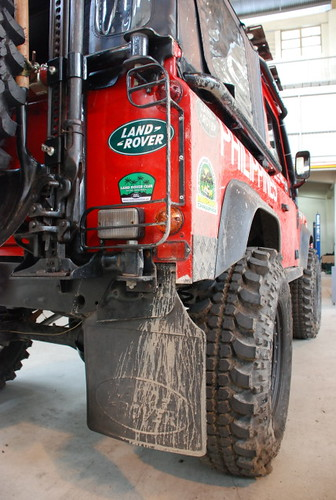 Team Land Rover Philippines Rear Fender Trimmed