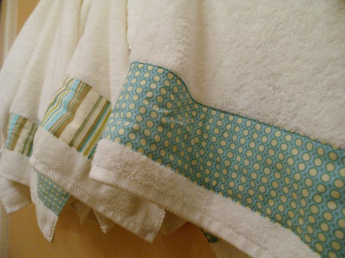 Decorated Bath Towel closeup