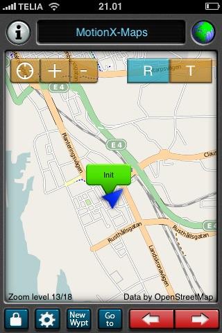 MotionX OpenStreetMap