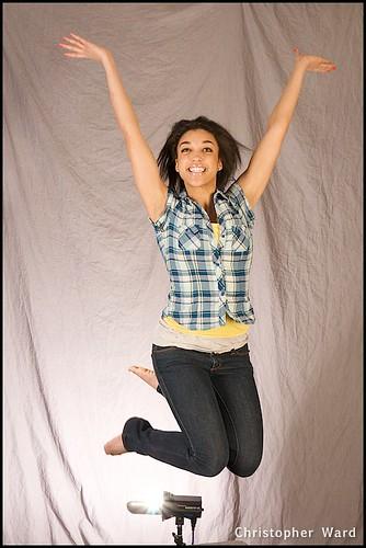 Jumping as shot