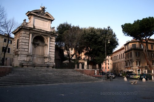 Piazza Trilussa in early morning, Trastevere, Rome