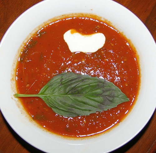 Spicy Tomato and Basil Soup