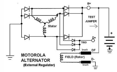 Motorola Alternator Stator Wiring Schematic Diagram