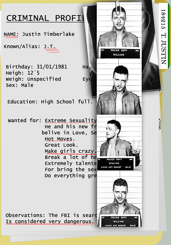 Criminal Profile ((Justin Timberlake)) - a photo on Flickriver