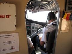 Pilot flying to Goz Beida
